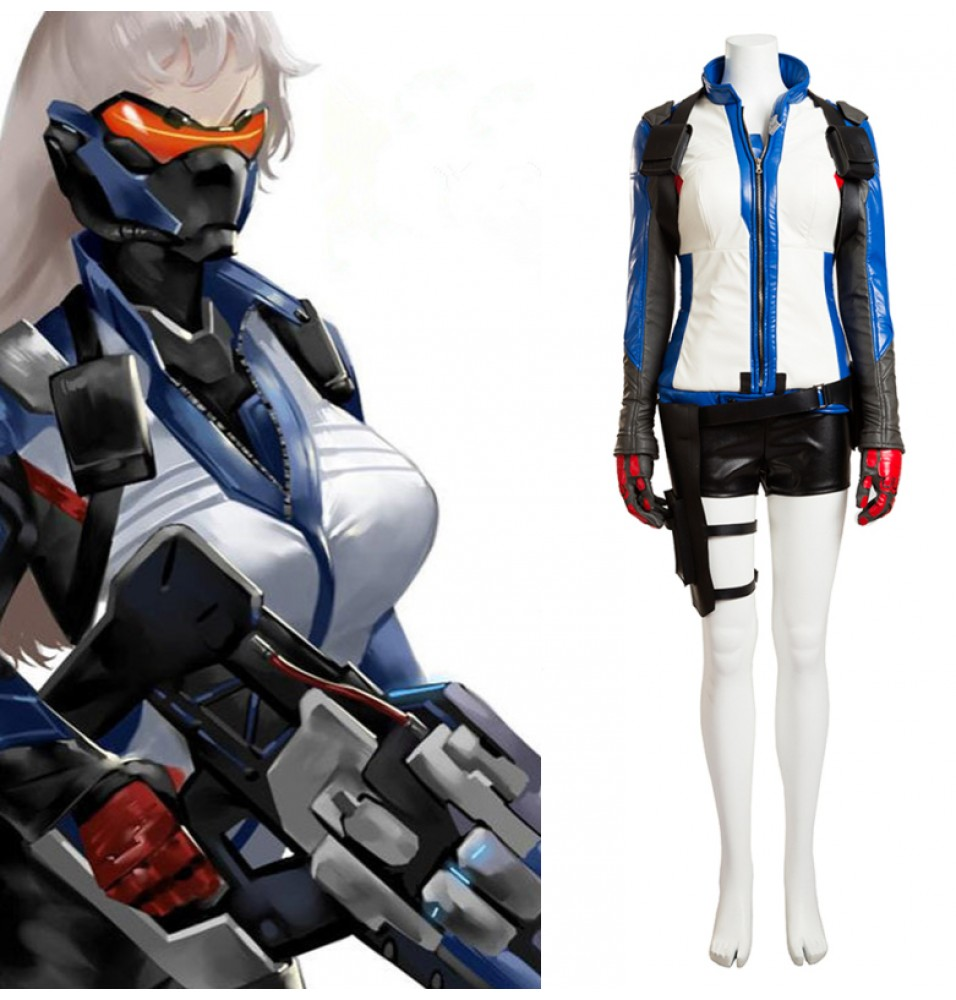 Overwatch Female Soldier 76 John Jack Morrison Cosplay Costume