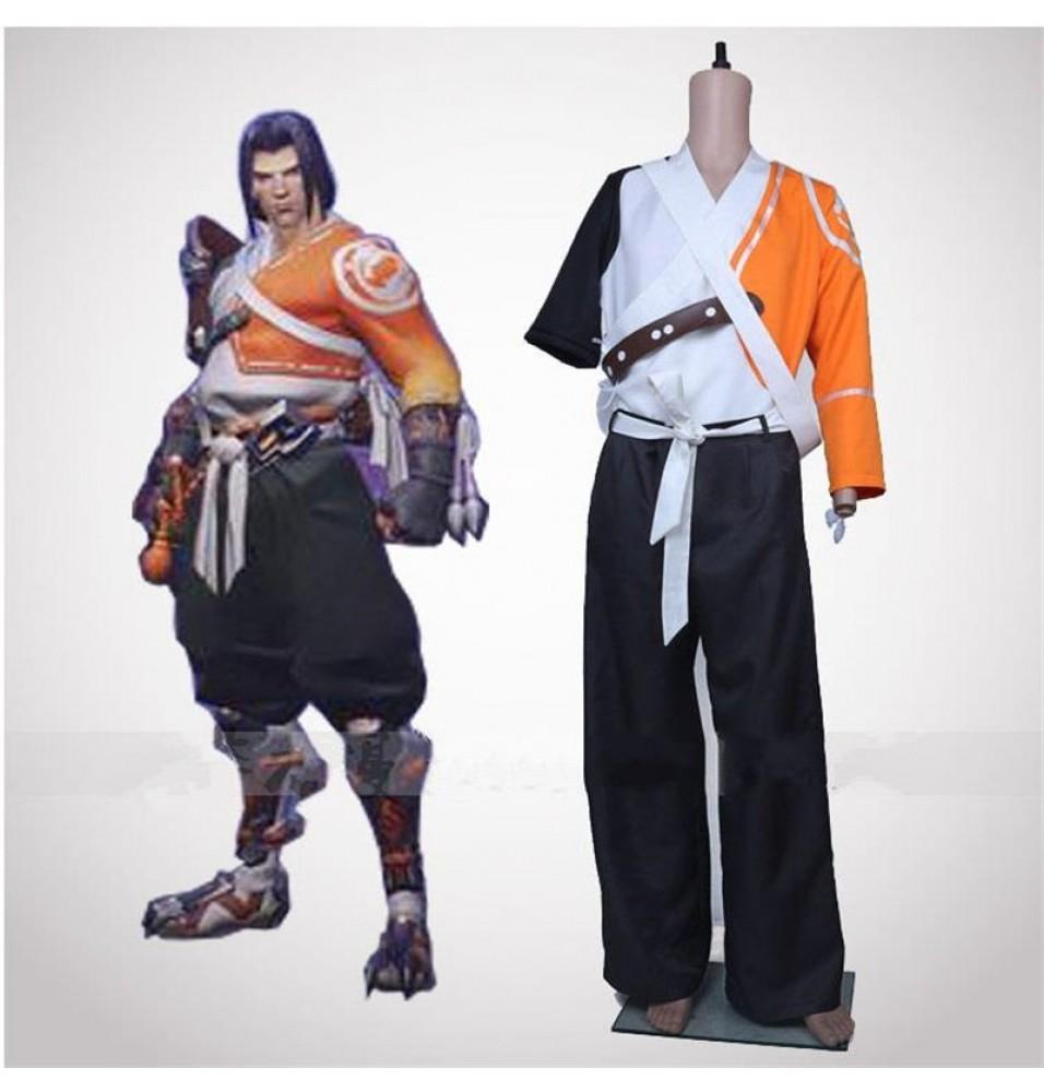 Overwatch Hanzo Samurai Cosplay Costumes