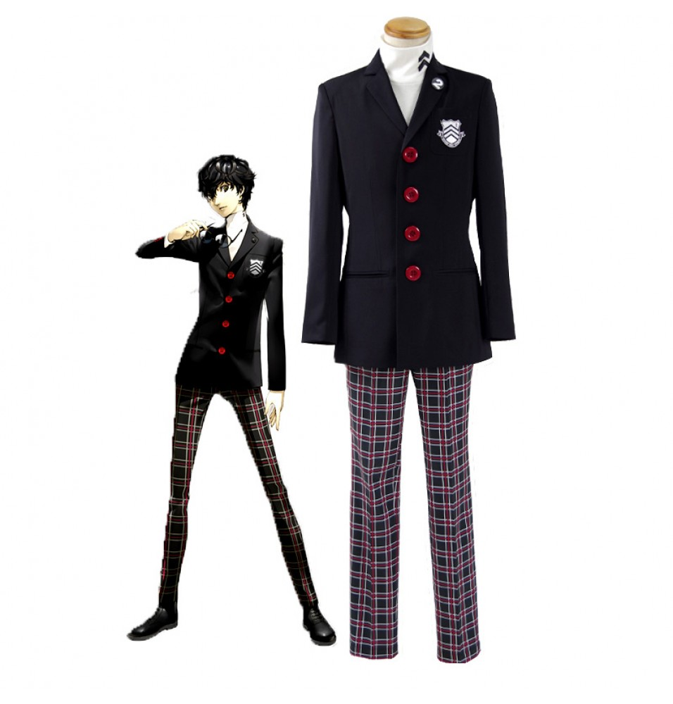 Persona 5 Protagonist Jacket Coat Top Suit Uniform Cosplay Costume