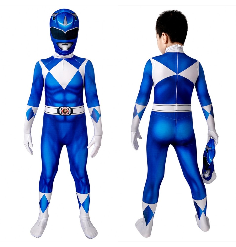 Power Rangers Billy Blue Ranger Kids 3D Jumpsuit