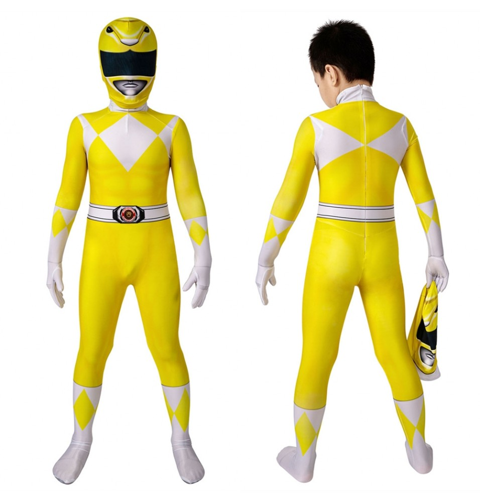 Power Rangers Trini Kwan Yellow Ranger Kids 3D Jumpsuit