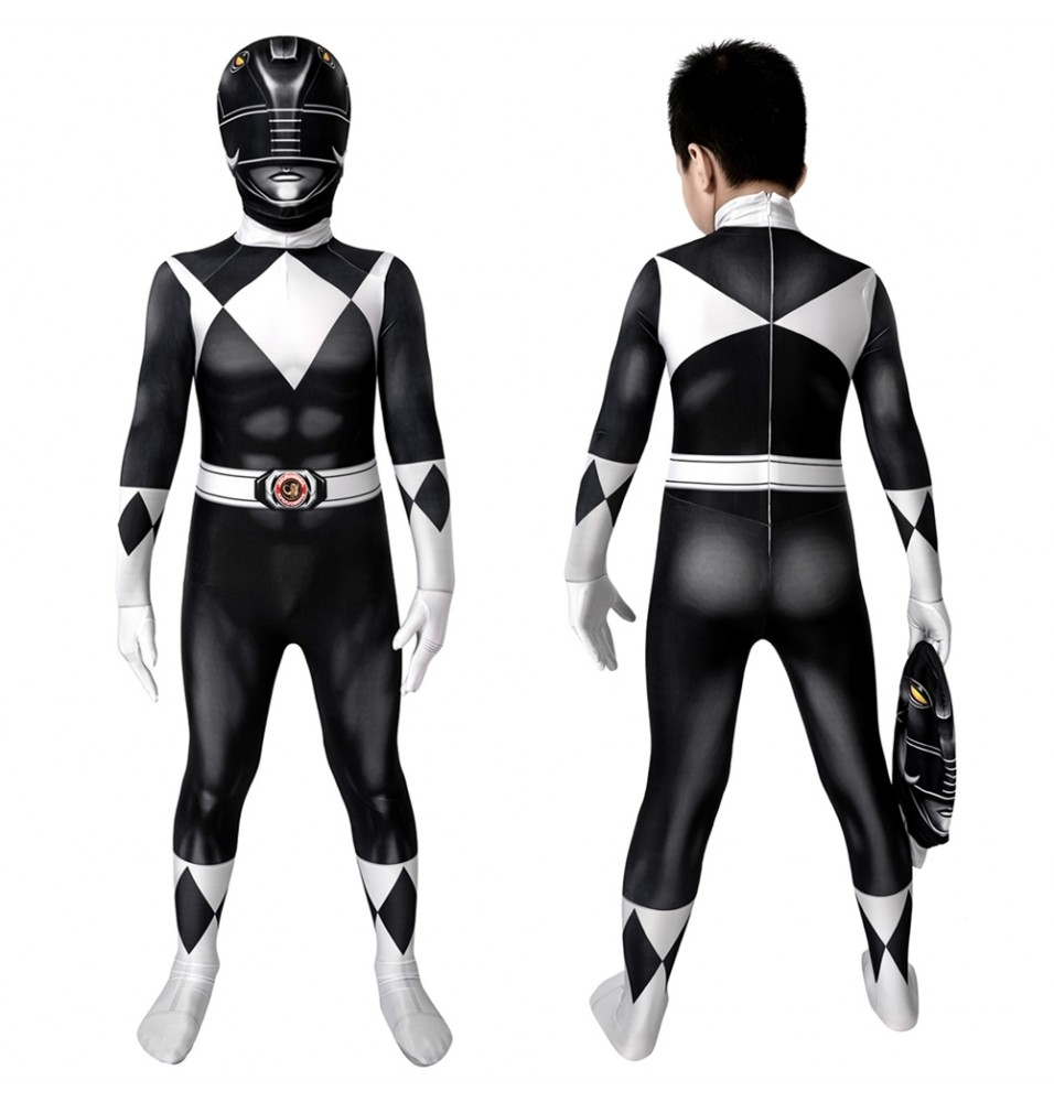 Power Rangers Zack Black Ranger Kids 3D Jumpsuit