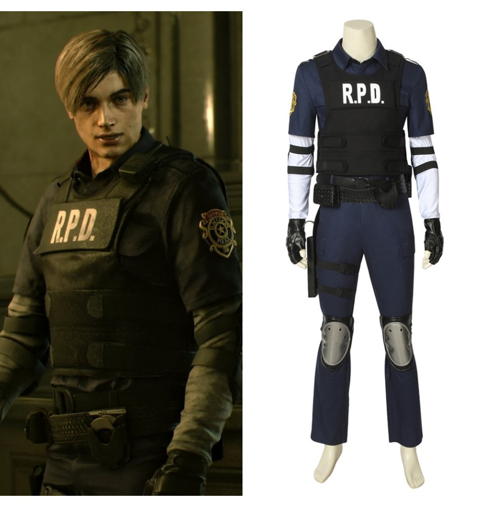 Resident Evil 2 Leon Scott Kennedy Cosplay Costume