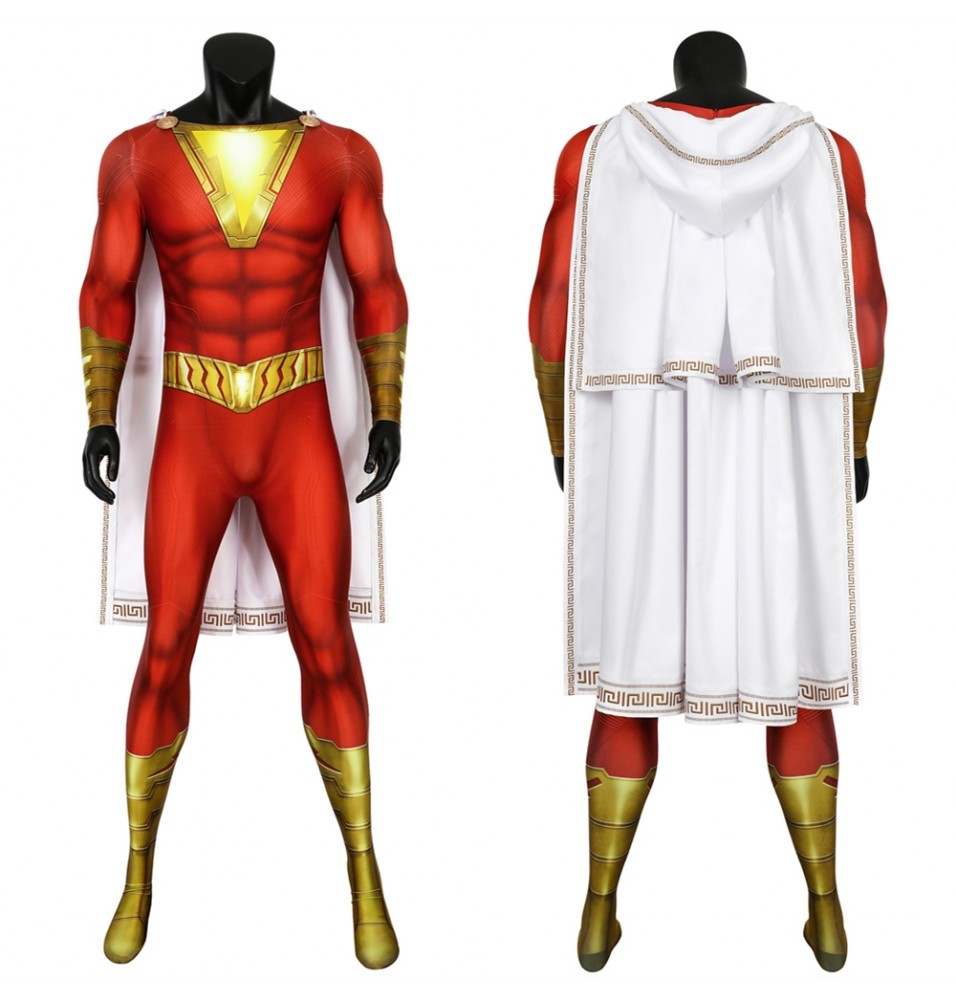 Shazam Billy Baston 3D Cosplay Jumpsuit
