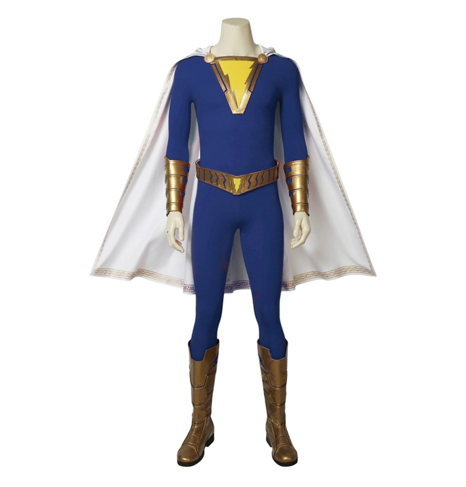 Shazam Freddy Freeman Cosplay Costume Blue