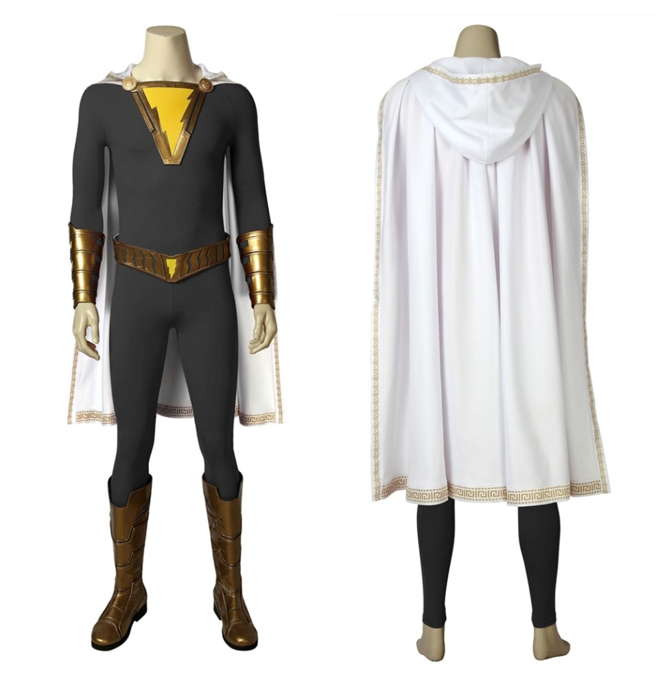 Shazam Freddy Freeman Cosplay Costume Deep Gray