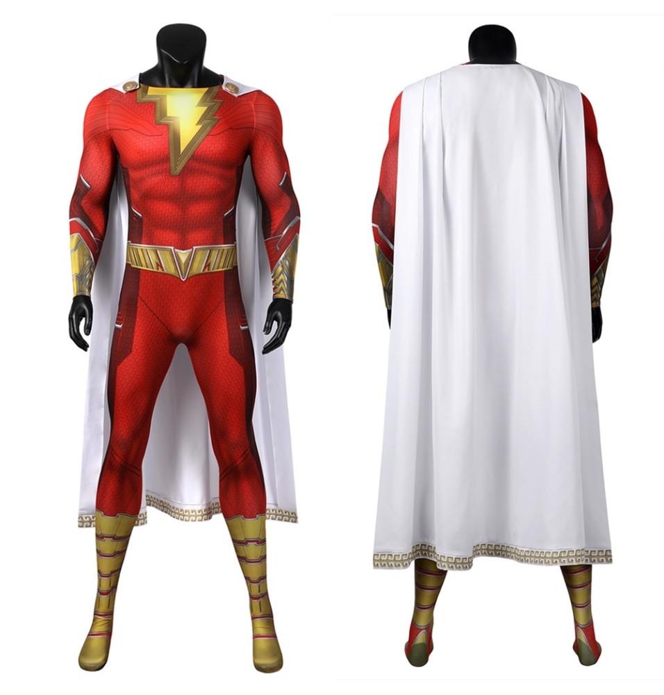 Shazam Fury of the Gods Shazam Cosplay Suit 3D Jumpsuit