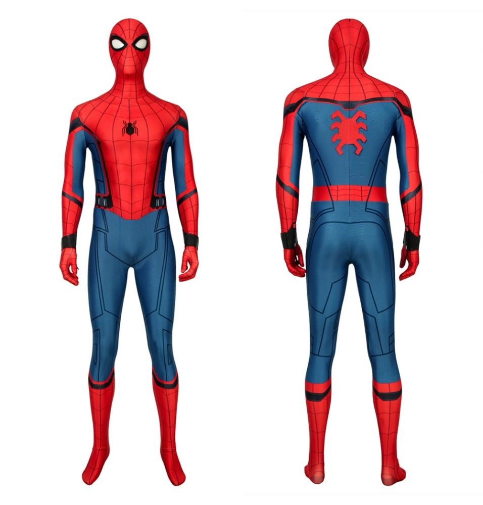 Spider-Man Far From Home Peter Parker 3D Zentai Jumpsuit Fullset