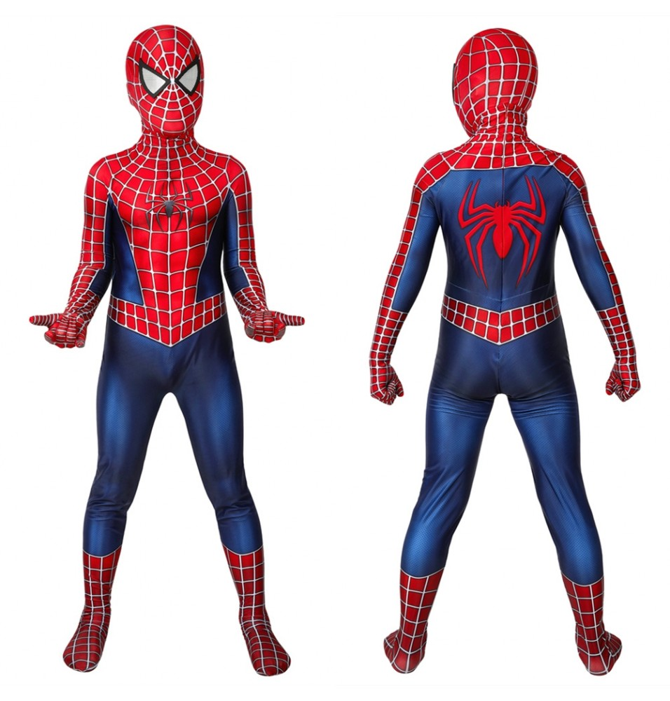 Spider-Man Peter Parker Kids 3D Jumpsuit Zentai