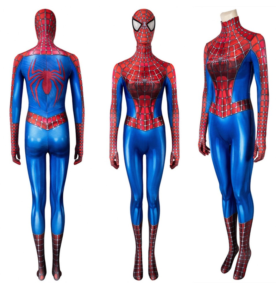 Spider-Man Peter Parker Tobey Maguire 3D Female Jumpsuit
