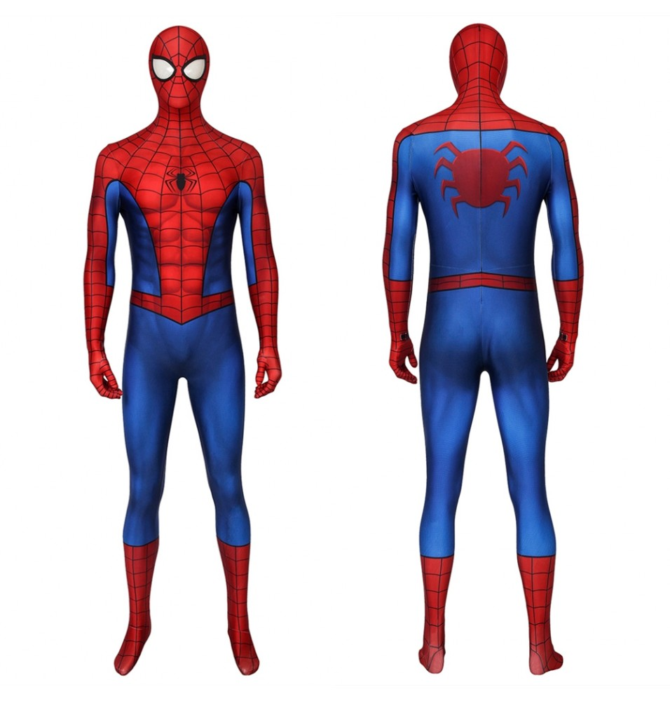 Spider-Man PS4 Classic 3D Jumpsuit Zentai Repaired Version