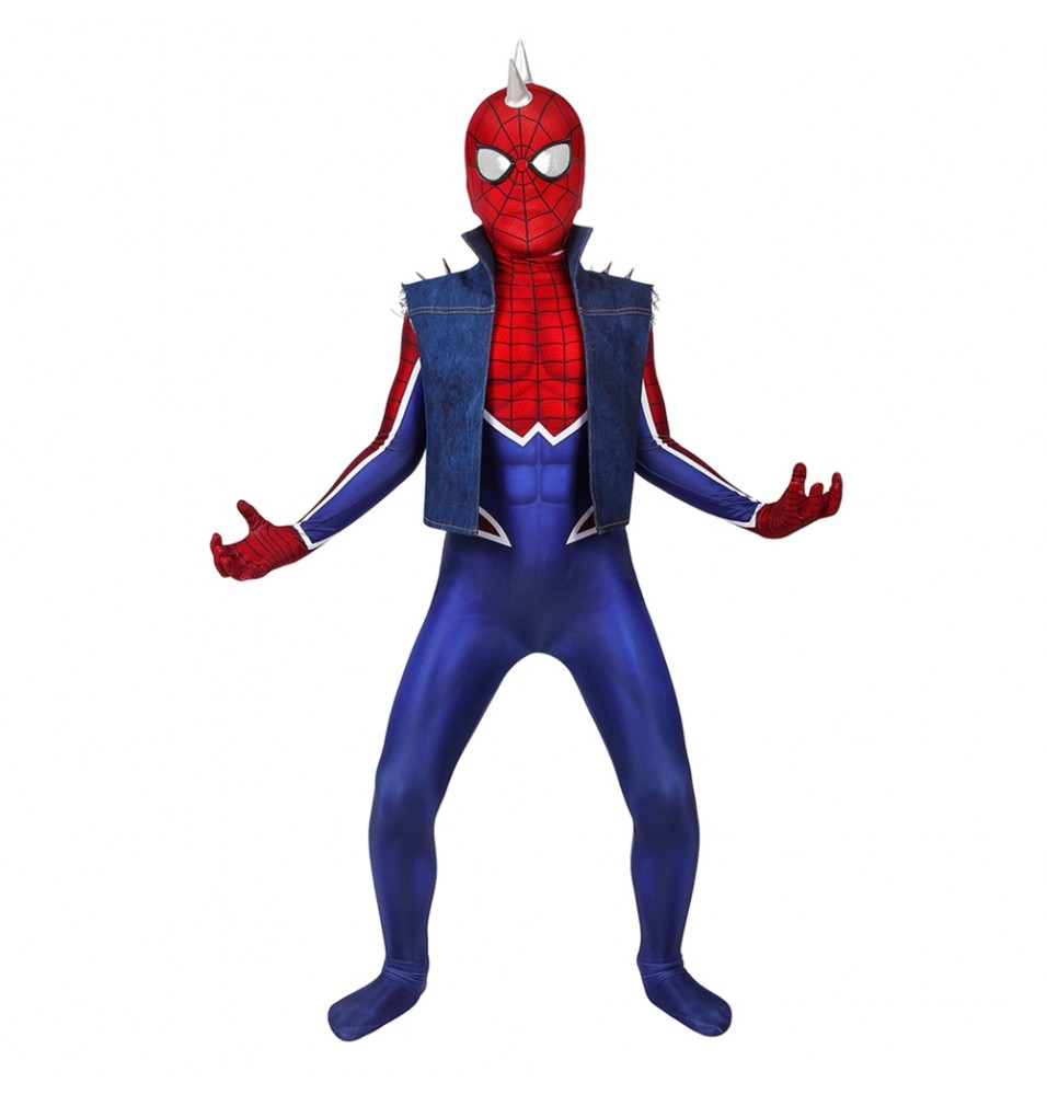 Spider-Man PS4 Spider-Punk Kids 3D Zentai Jumpsuit
