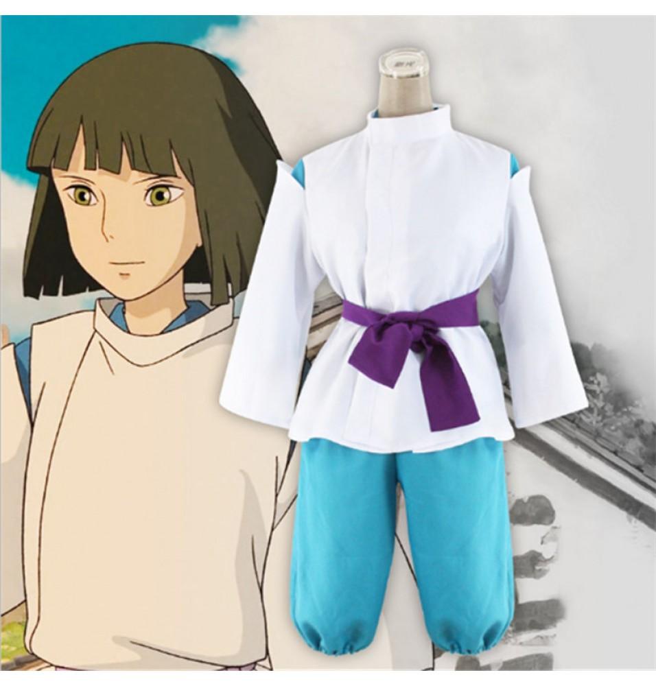 Spirited Away Haku Nigihayami Kohakunushi Suit Cosplay Costumes