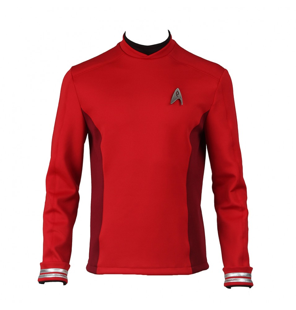 Star Trek Beyond Montgomery Scott Scotty Red Uniform Cosplay Costume