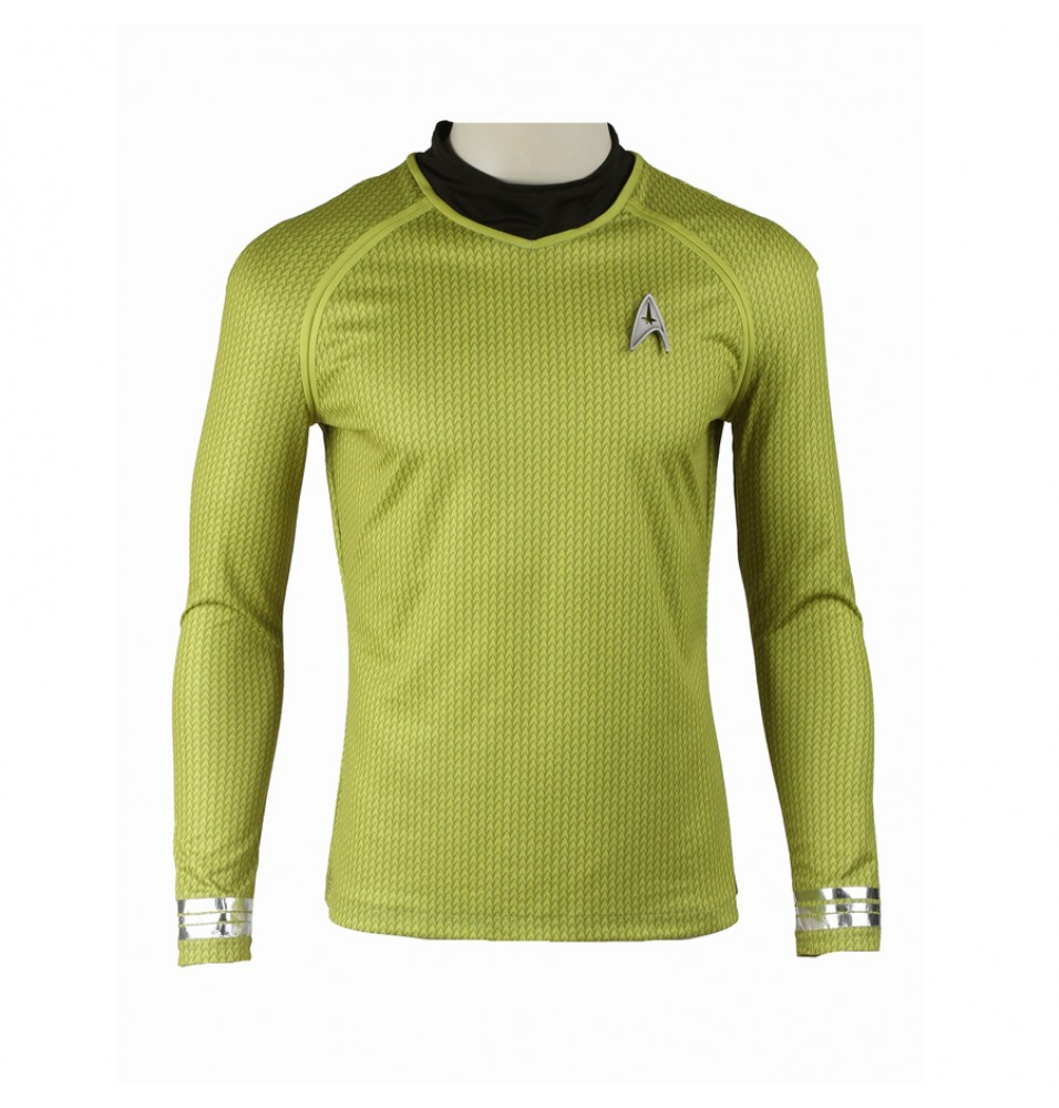 Star Trek Into Darkness James Tiberius Kirk Hikaru Sulu Yellow Uniform Costume