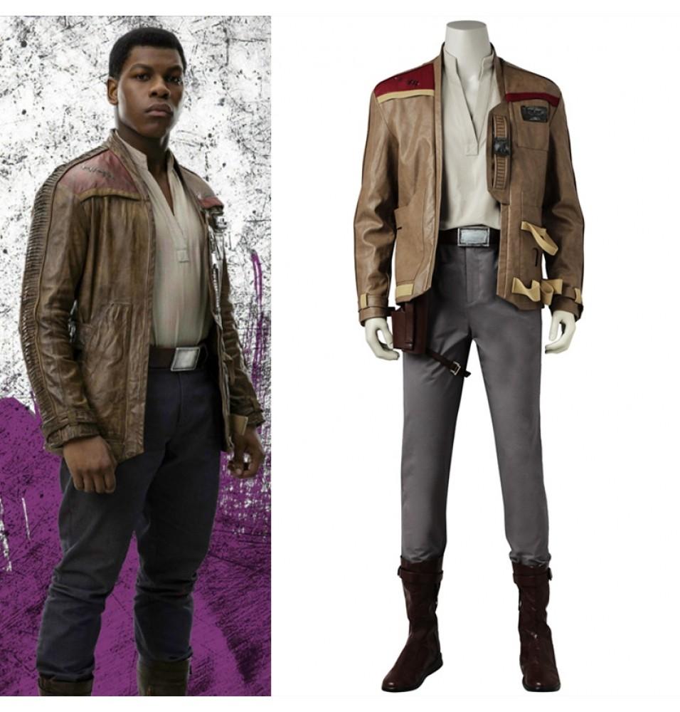 Star Wars 8 The Last Jedi Finn Cosplay Costume Finn Cosplay Outfit