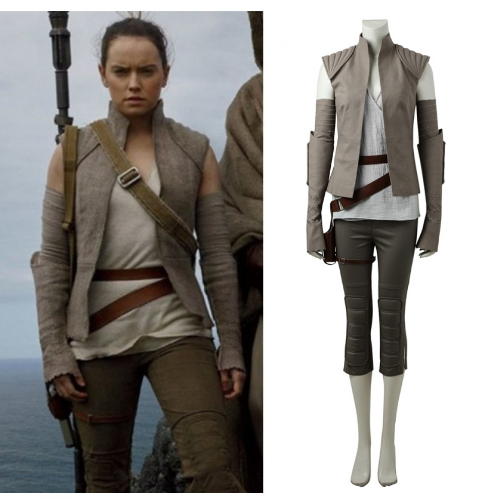 Star Wars 8: The Last Jedi Rey Cosplay Costume