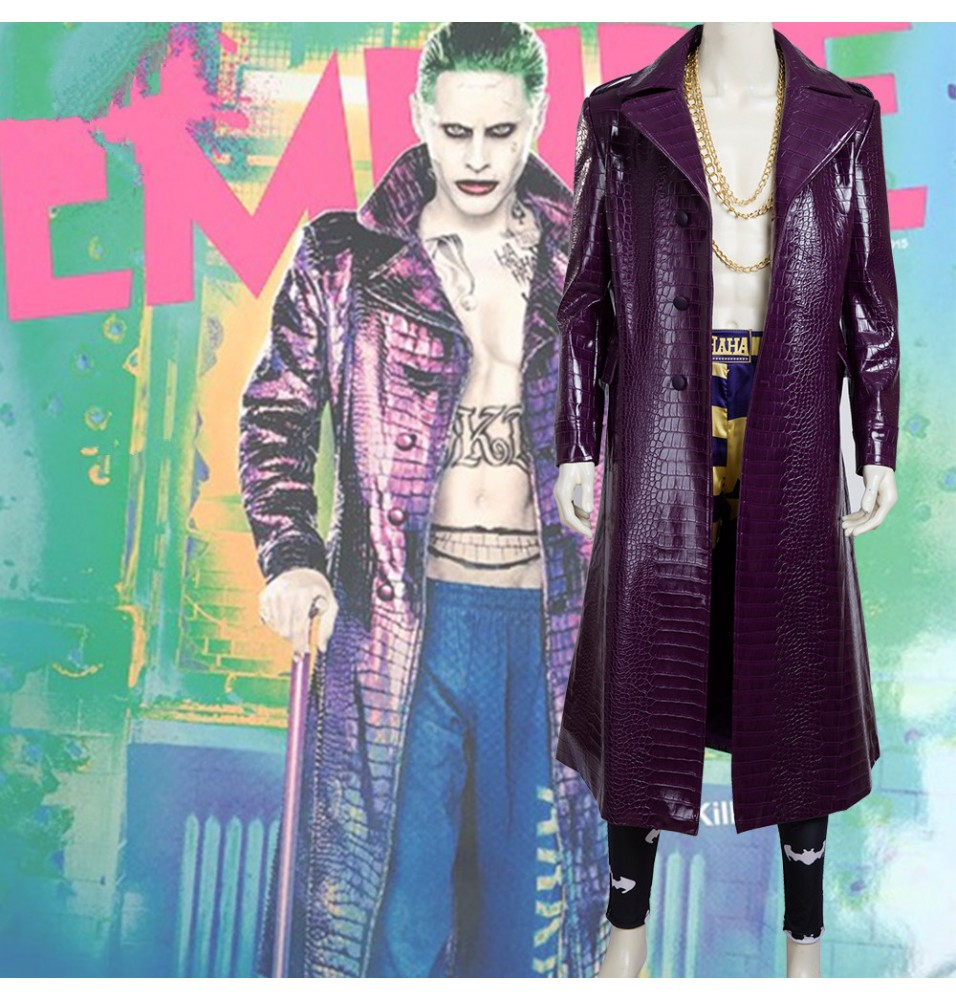 Suicide Squad Joker Cosplay Costume - Deluxe Version