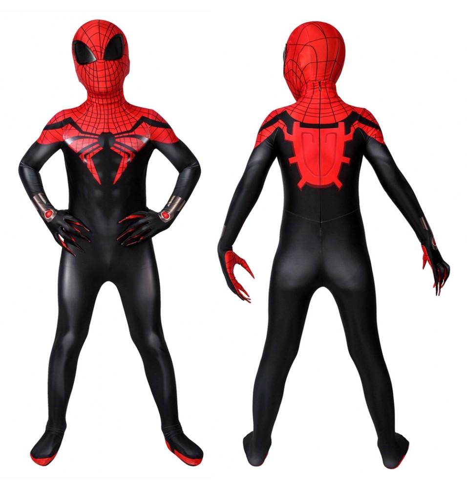 Superior Spider-Man Kids 3D Zentai Jumpsuit