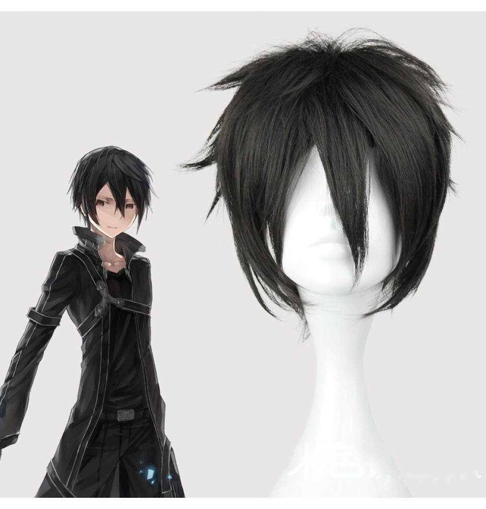 Sword Art Online Kirigaya Kazuto Black Wig Kirito Cosplay Wigs
