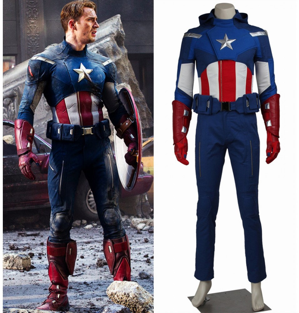 The Avengers 1 Captain America Steve Rogers Cosplay Costume