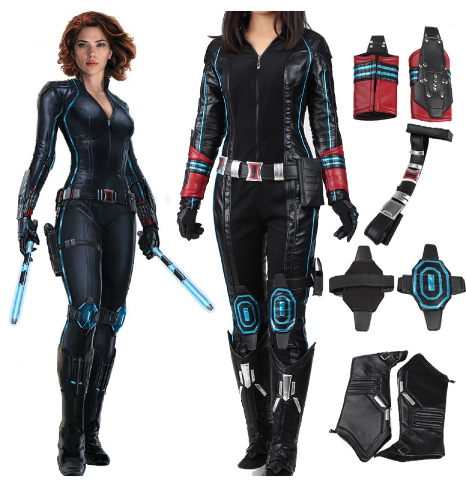 The Avengers 2 Age of Ultron Black Widow Natasha Romanoff Cosplay Costume