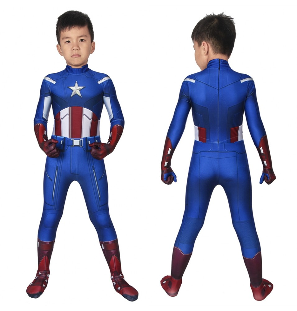The Avengers Captain America Kids 3D Jumpsuit