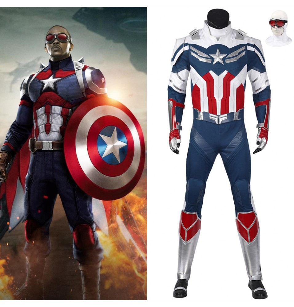 The Falcon and the Winter Soldier New Captain America Cosplay Costume