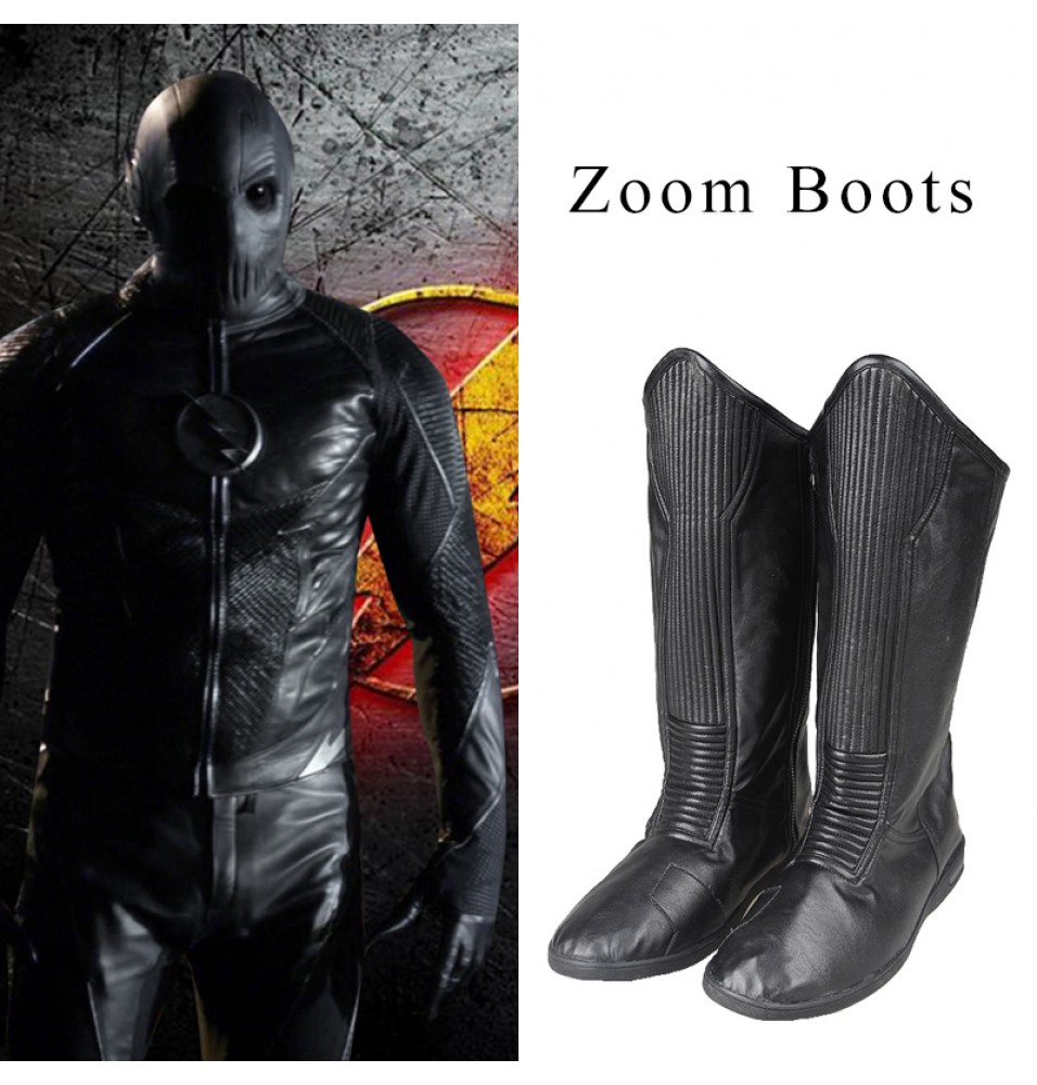 The Flash Season 2 Zoom Hunter Boots Zolomon Cosplay Shoes