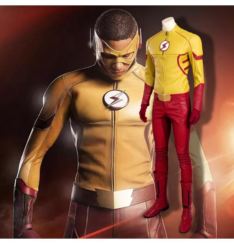 The Flash Season 3 Kid Flash Cosplay Costume Deluxe