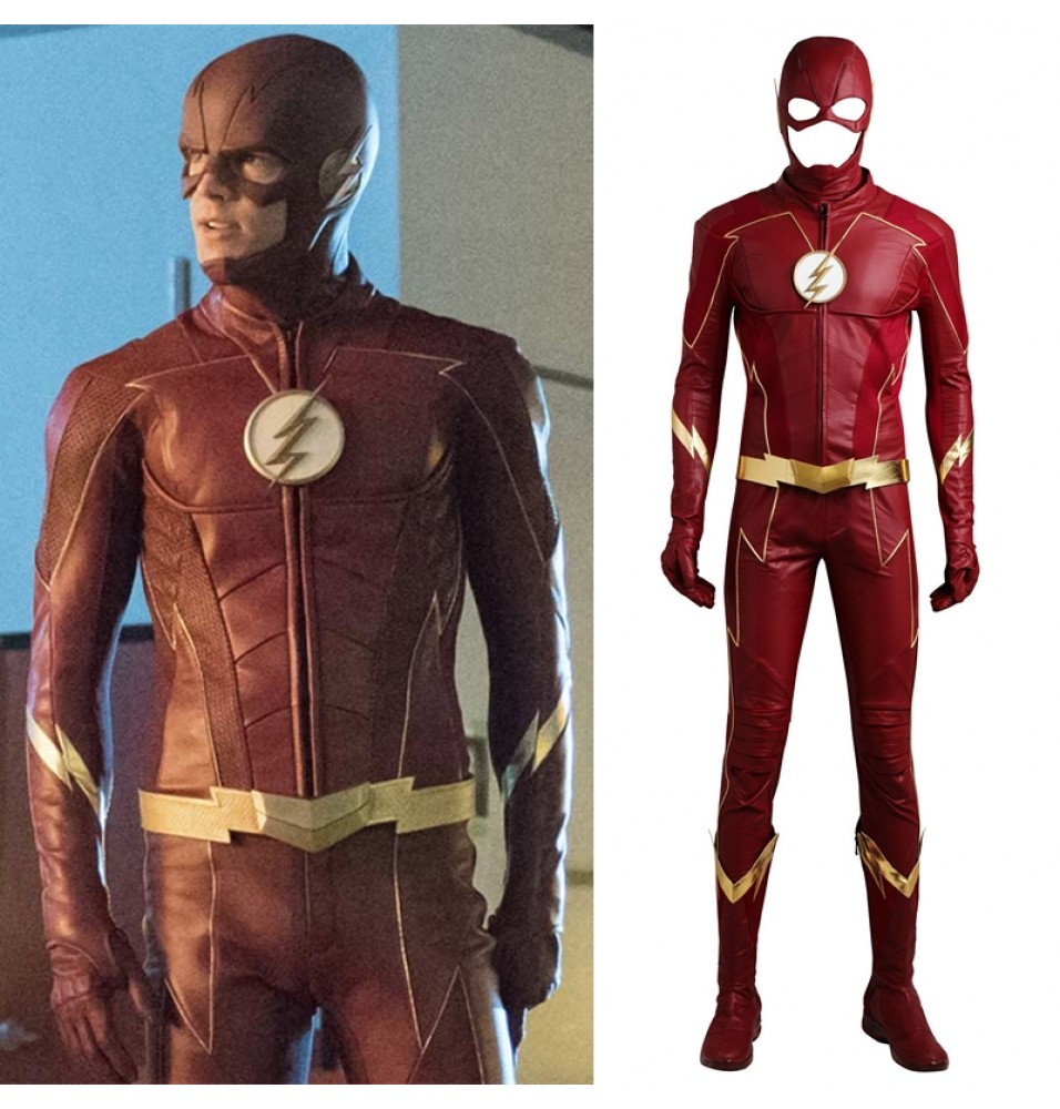The Flash Season 4 Barry Allen Cosplay Costume Deluxe Outfit