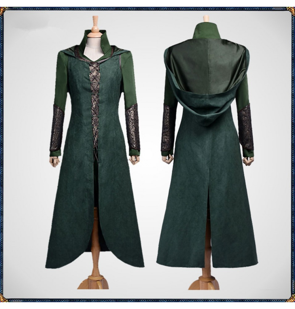 The Hobbit Tauriel Cloak Dress Cosplay Costumes