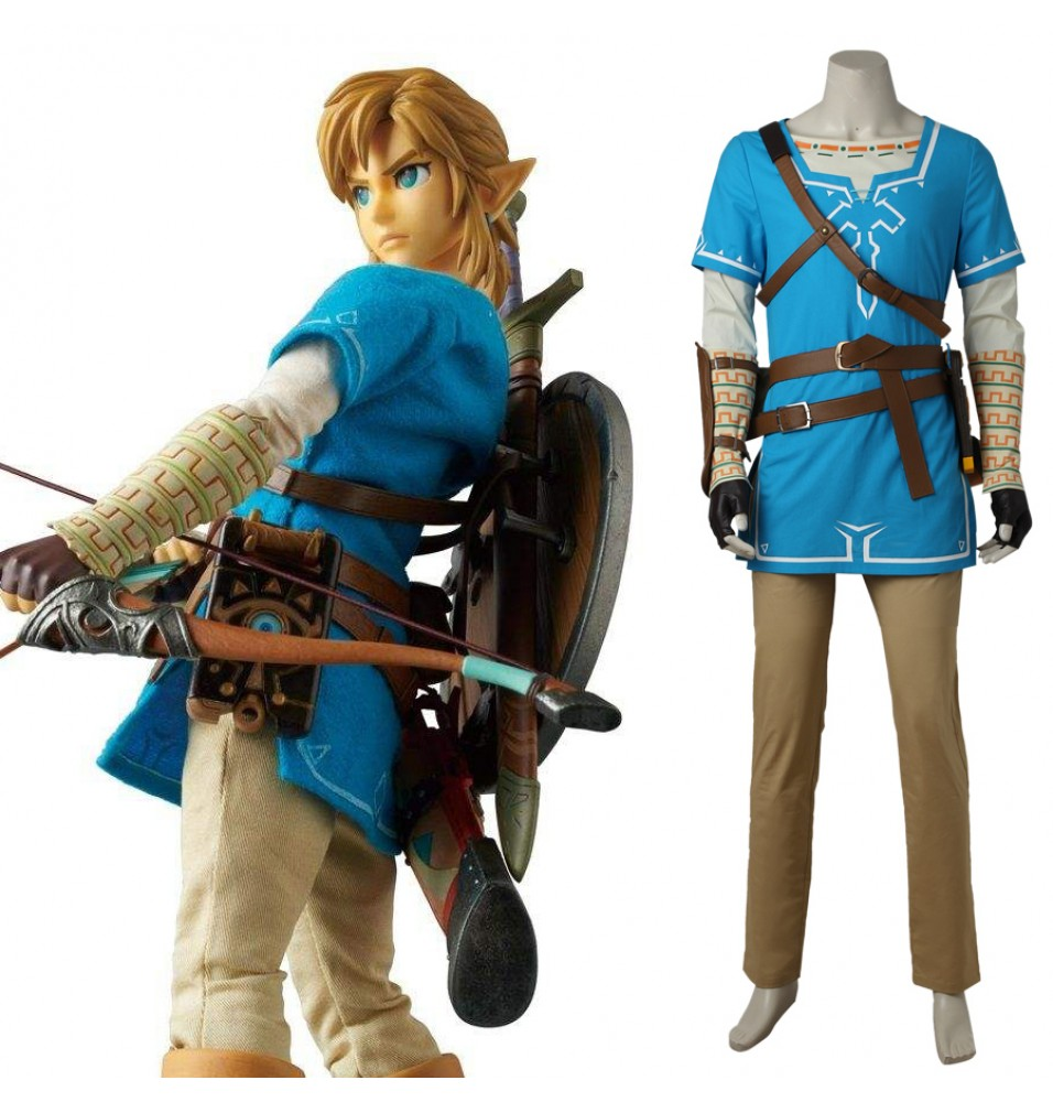 The Legend of Zelda Breath of the Wild Link Cosplay Costume Deluxe