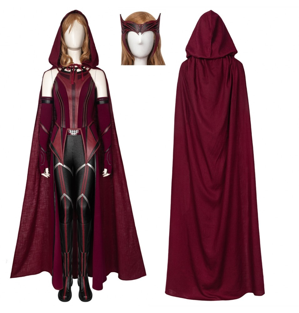 TV WandaVision Scarlet Witch Wanda Cosplay Costume