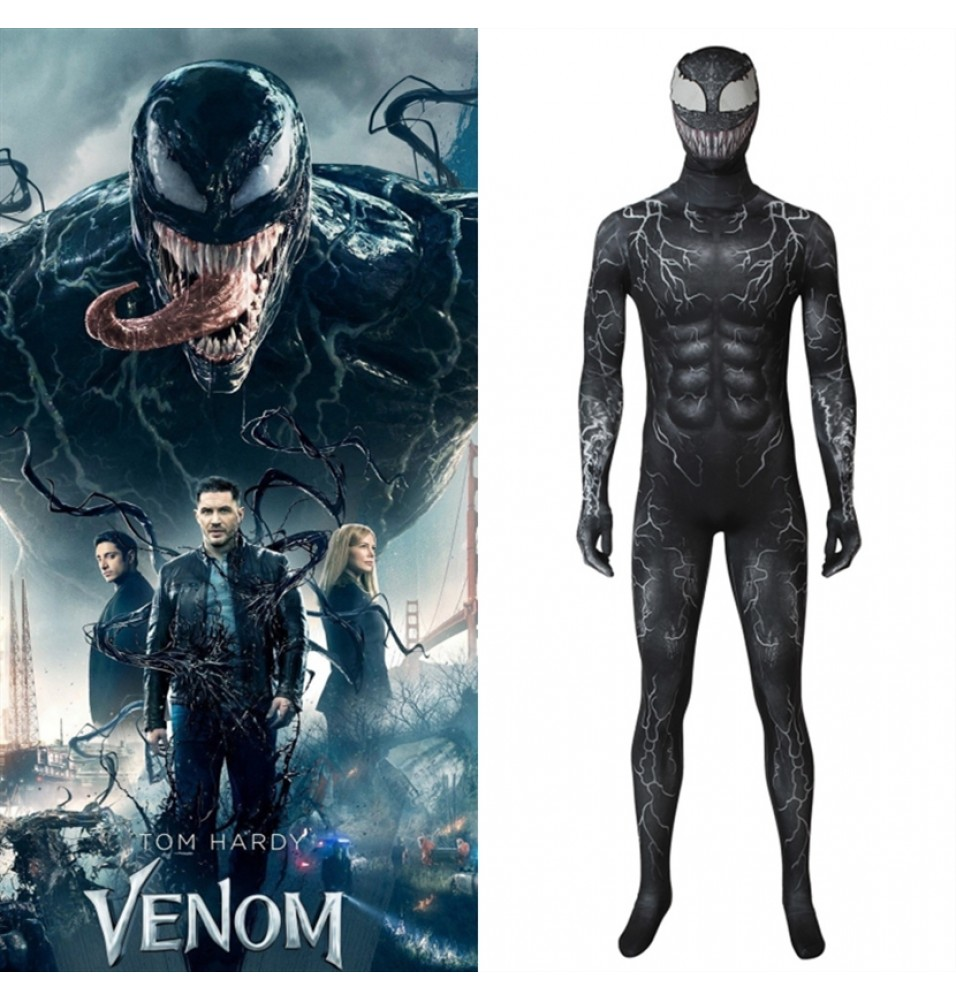 Venom Costume Eddie Brock Cosplay 3D Jumpsuit