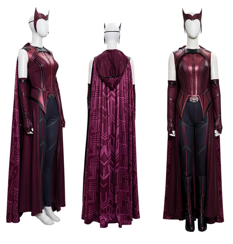 WandaVision Scarlet Witch Wanda Cosplay Costume Deluxe Version