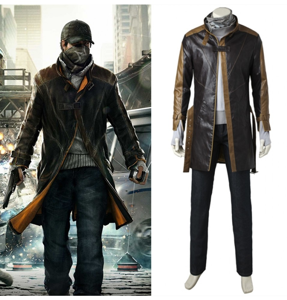 Watch Dogs Aiden Pearce Cosplay Costume Full Set Deluxe