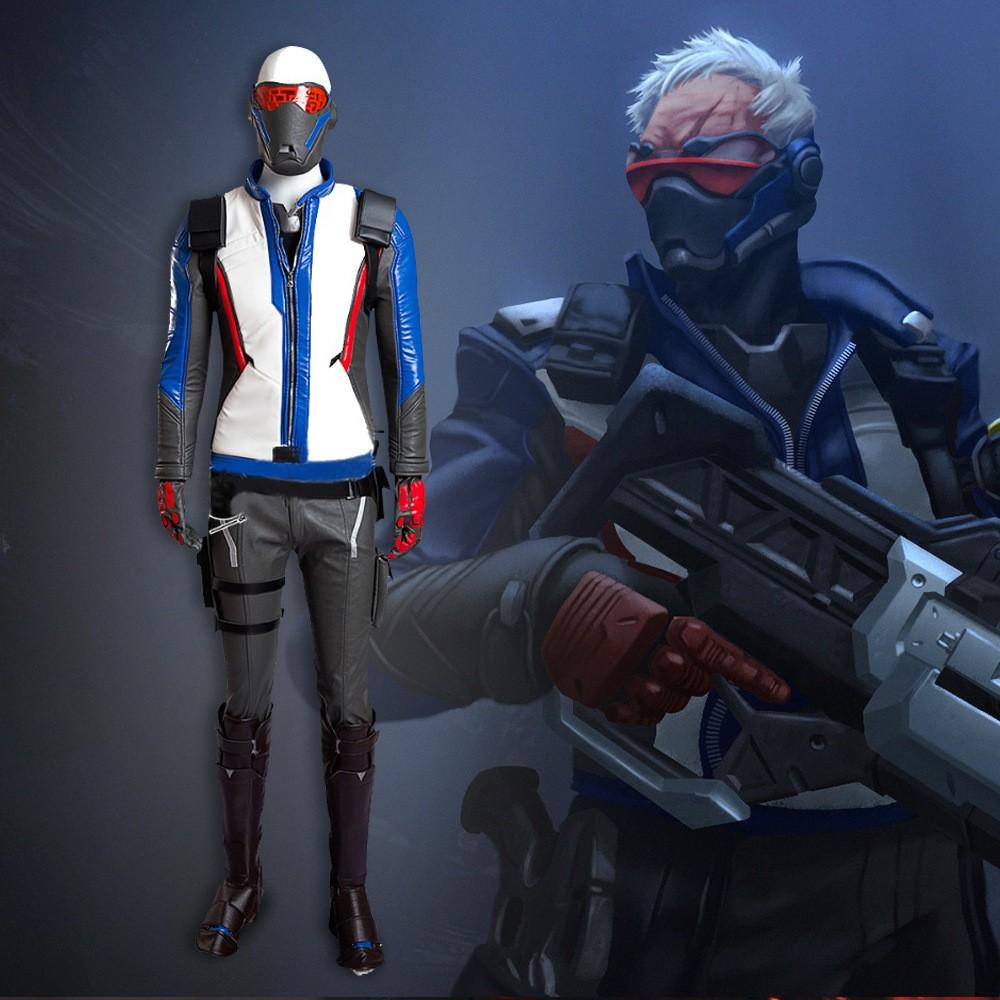 Overwatch Soldier 76 John Jack Morrison Cosplay Costume Deluxe