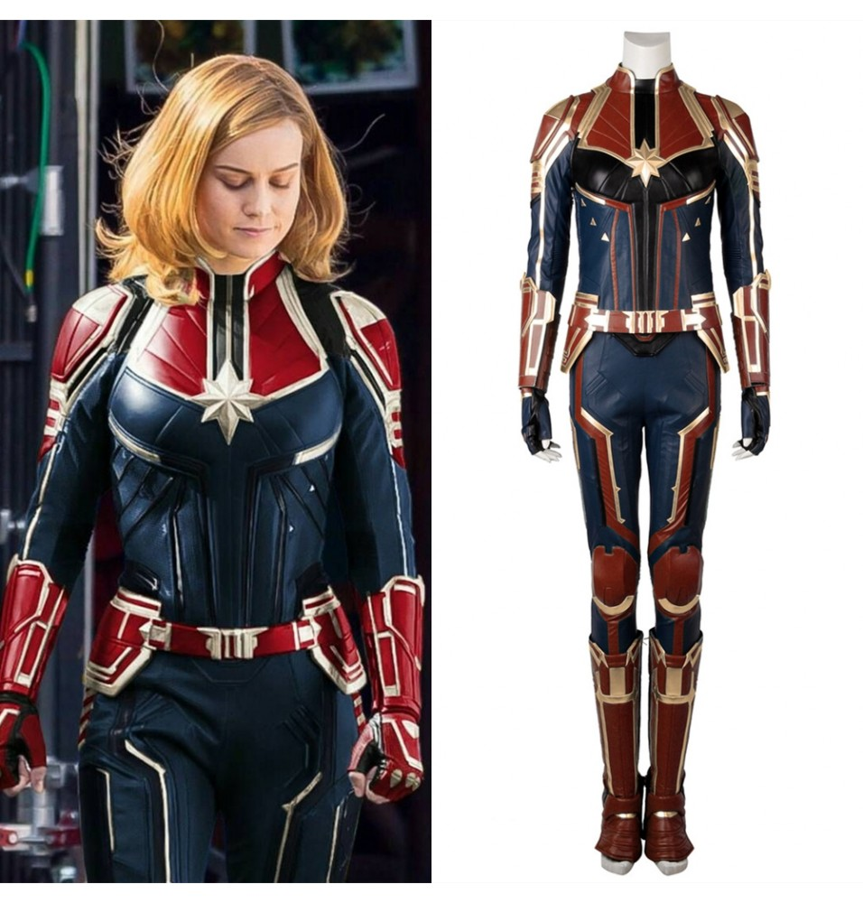 2019 Captain Marvel Cosplay Costume Carol Danvers Costume