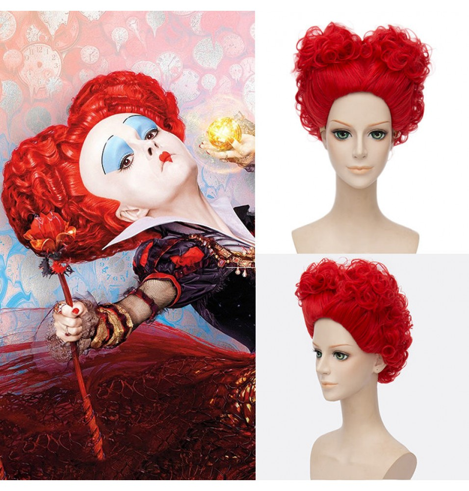 Disney Alice in Wonderland 2 The Red Queen Red Cosplay Wigs