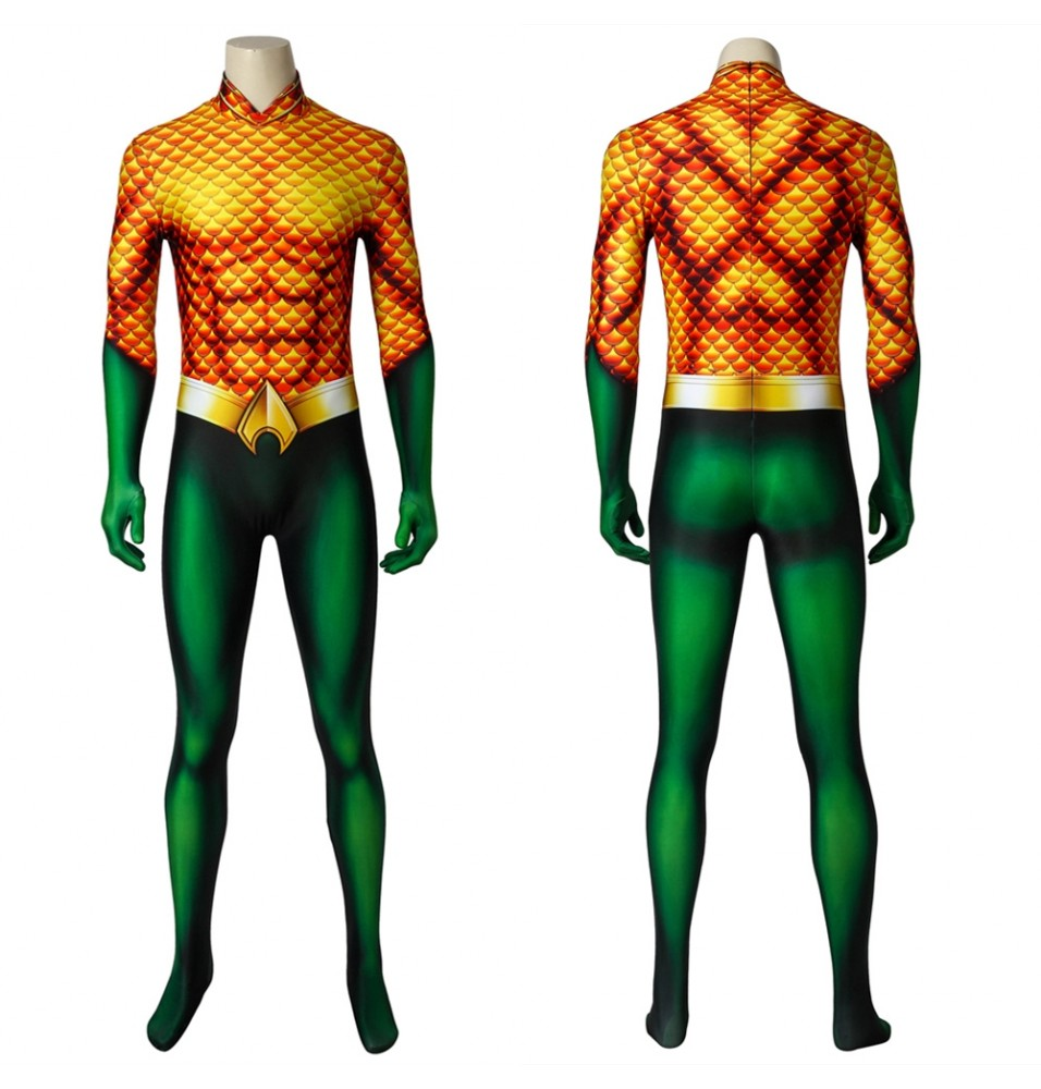Aquaman Arthur Curry 3D Cosplay Jumpsuit