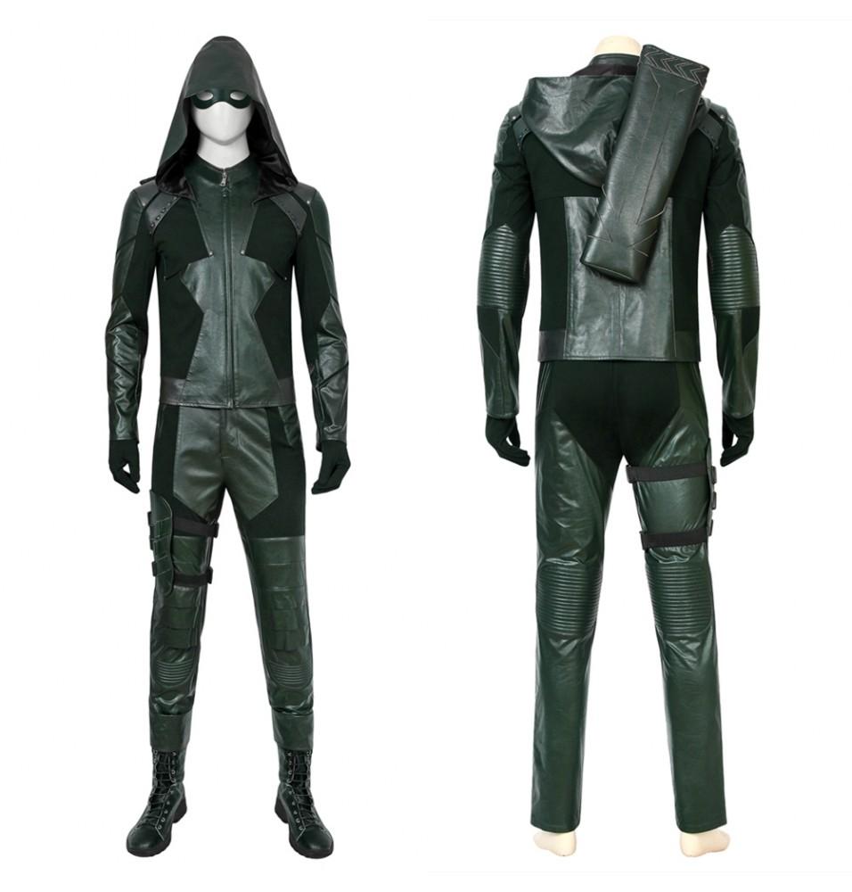 Arrow Season 8 Oliver Queen Green Arrow Cosplay Costume