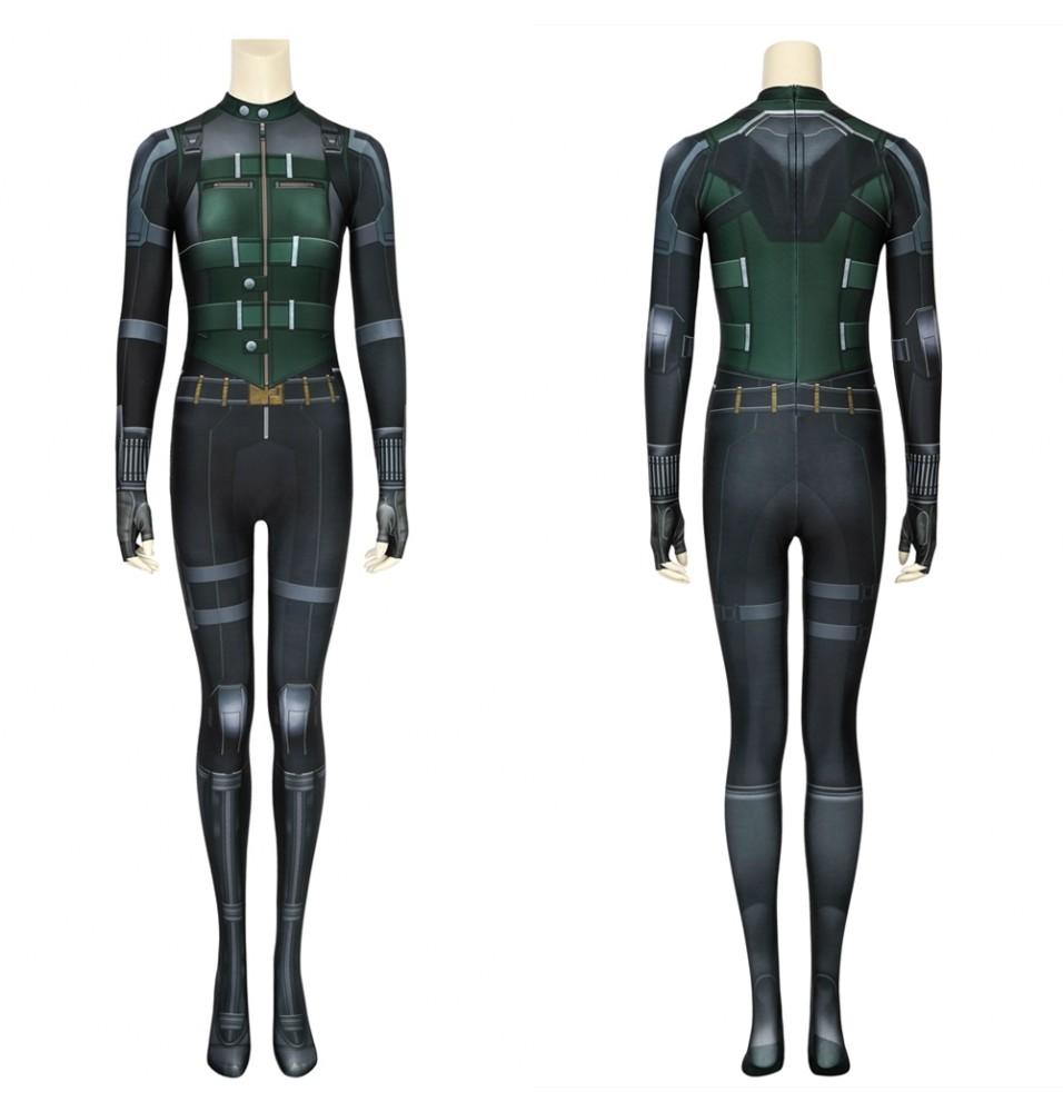 Avengers 3 Infinity War Black Widow Costume Natasha Romanoff 3D Jumpsuit