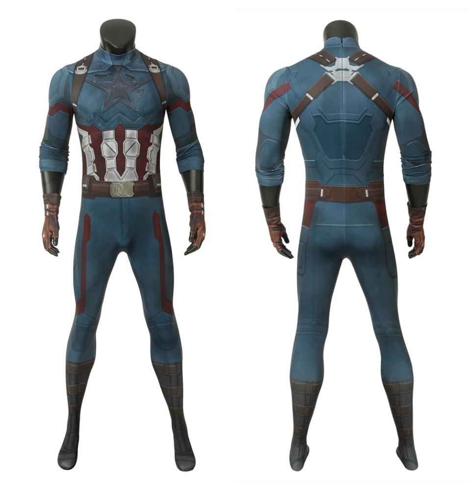 Avengers 3 Infinity War Captain America 3D Jumpsuit