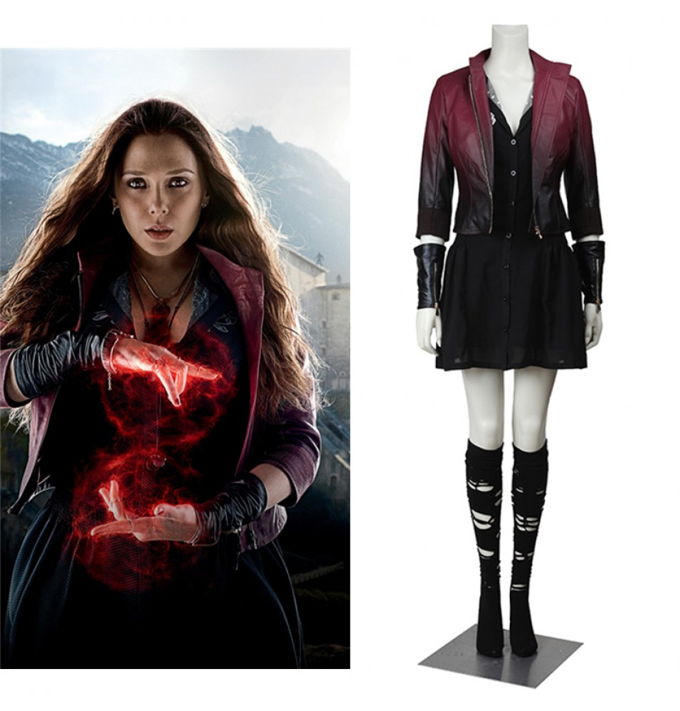 Avengers Age of Ultron Wanda Maximoff Scarlet Witch Cosplay Costume