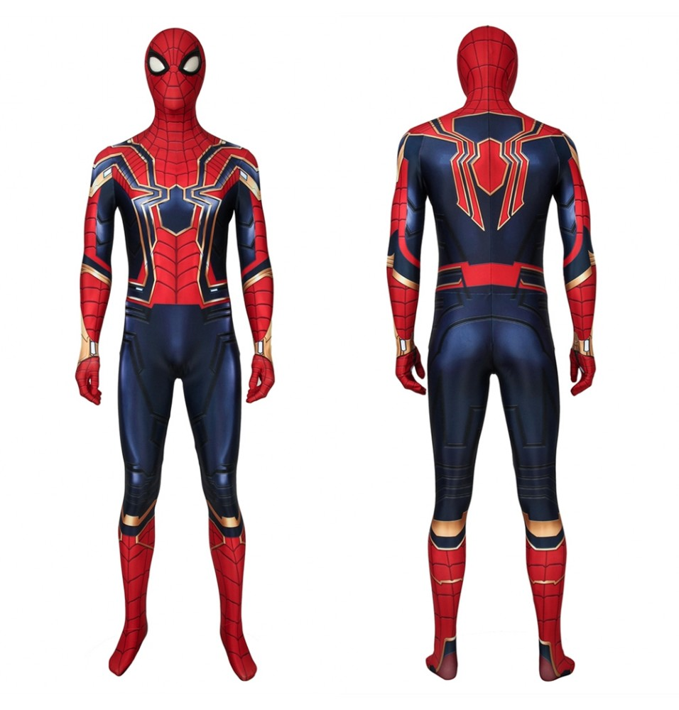 Avengers: Endgame Iron Spiderman 3D Zentai Jumpsuit