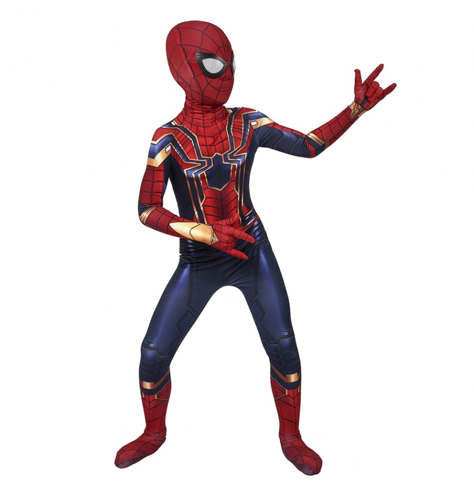 Avengers: Endgame Iron Spiderman Kids 3D Zentai Jumpsuit