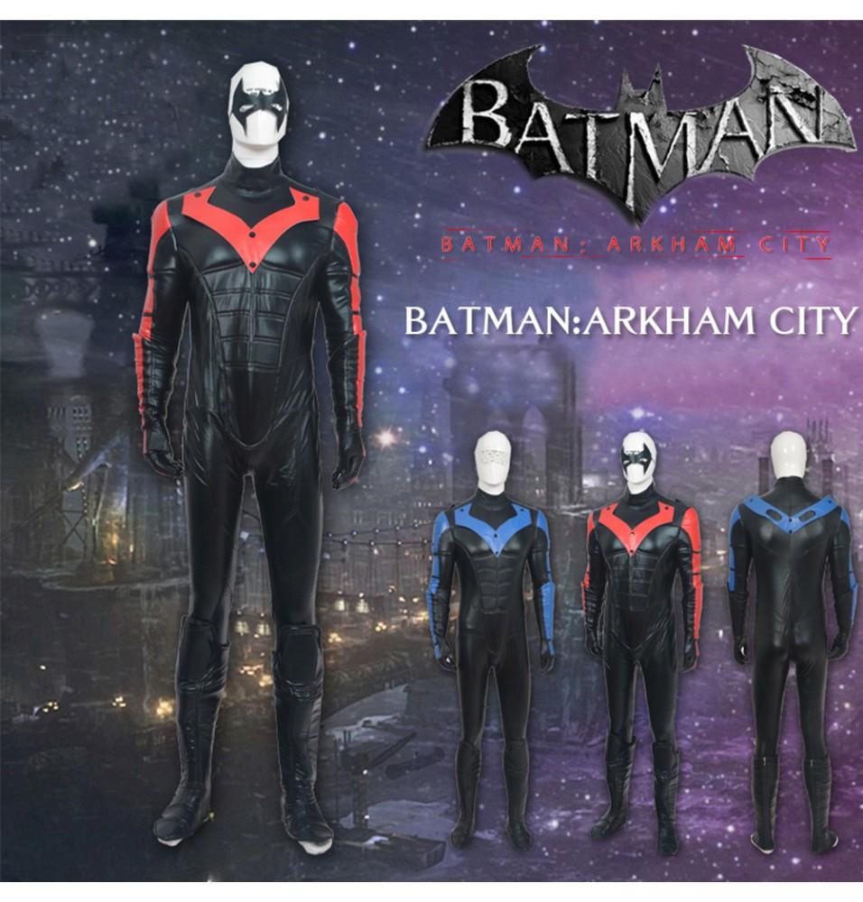 Arkham City Red Nightwing Richard John Dick Grayson Cosplay Costume