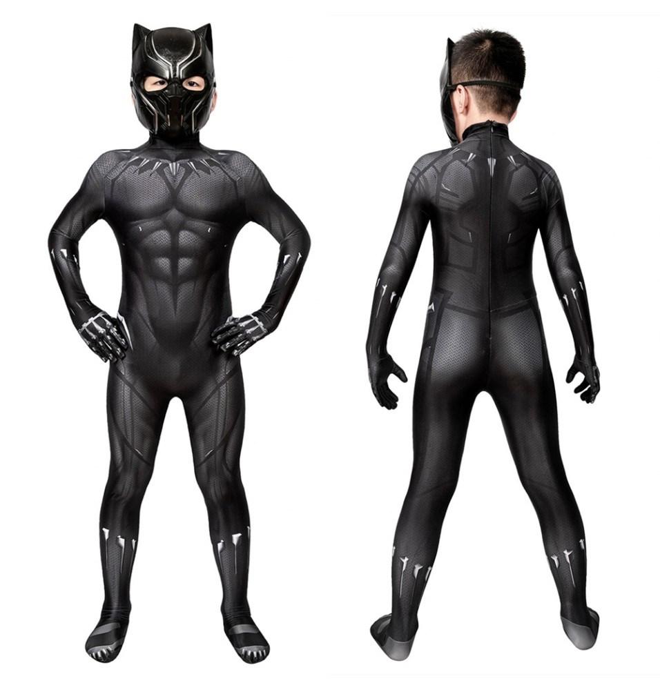 Black Panther 3D Kids Jumpsuit