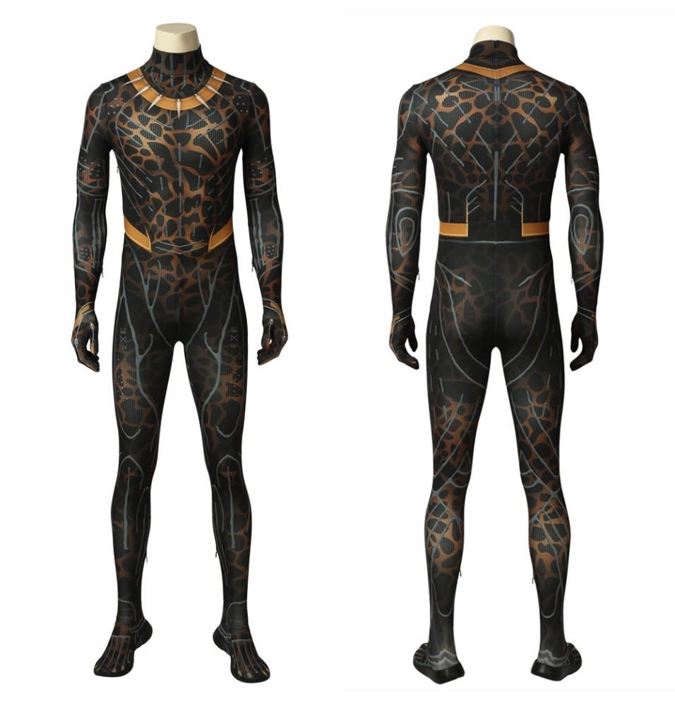 Black Panther Erik Killmonger 3D Zentai Jumpsuit